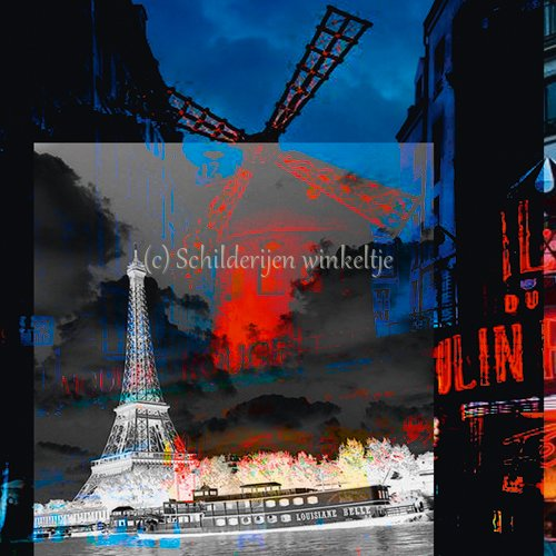 Schilderij Schilderij Paris Moulin Rouge